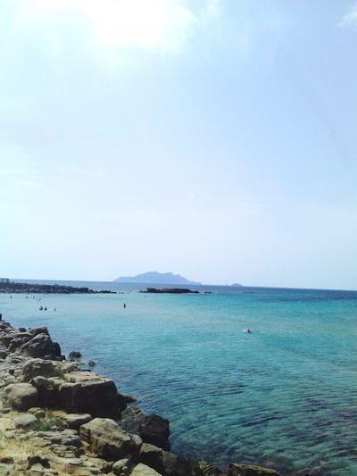 Water Sea Beach Blue Sand Idyllic Sky Horizon Over Water Landscape Cloud - Sky