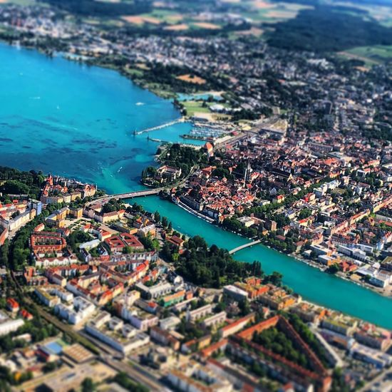 Konstanz Water High Angle View City Building Exterior Architecture Built Structure Transportation Outdoors No People Nautical Vessel Day Aerial View Cityscape Nature Tilt-shift Building Sea Residential District Bay The Great Outdoors - 2018 EyeEm Awards