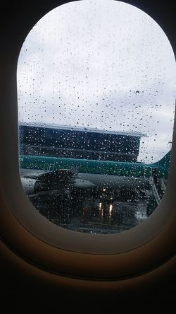 Plane✈ Drop Window Wet WaterCity Happy ❤ Things I Like Ireland🍀 Spain ✈️🇪🇸 AirPlane ✈ Air Line Airplane No People Close-up Indoors  Sky Day