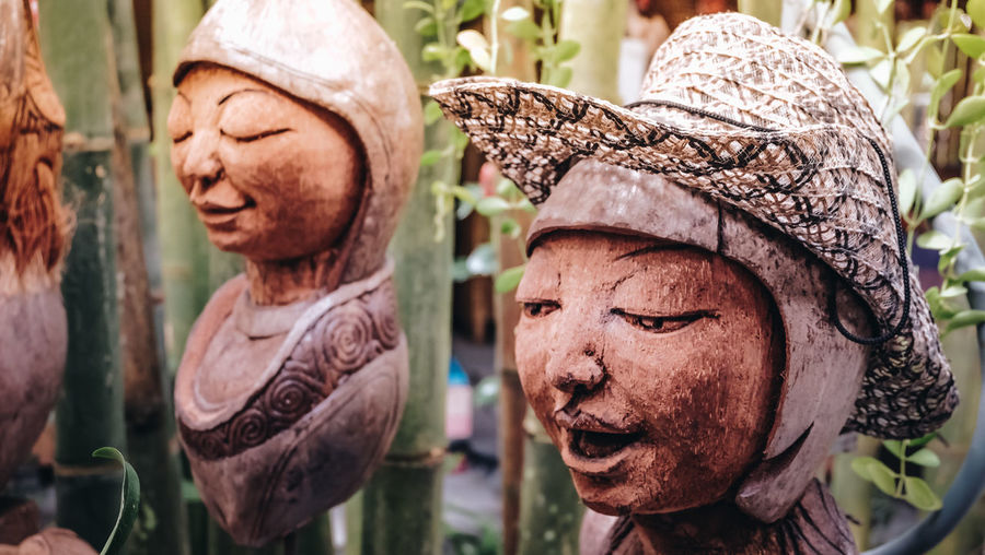 Coconut Art And Craft Carved Carved Wood Close-up Craft Focus On Foreground Hand Made Hat No People Outdoors Representation