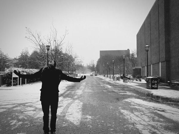 Taking Photos Enjoying Life Happiness Snow Blackandwhite The Human Condition Androidography VCU Richmond, VA