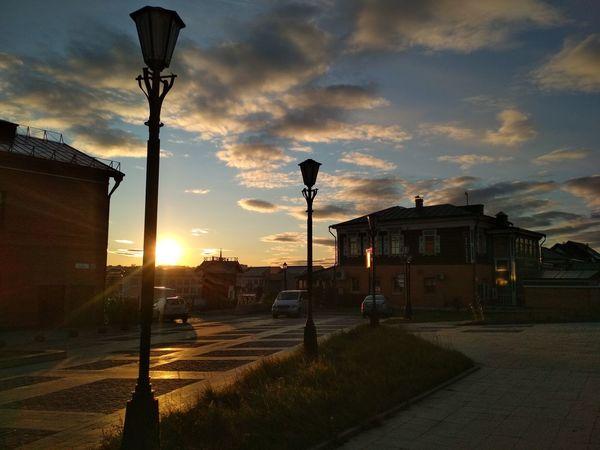 Street Light Cloud - Sky Sky No People Outdoors Sunset Illuminated Day