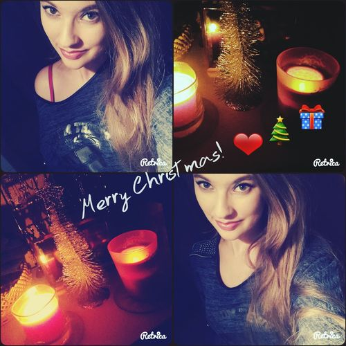 Merry Christmas! ❤ MerryChristmas Christmas Tree Christmastime Feeling Good Brown Hair Candle Shine Self Portrait ThatsMe Pretty Color Portrait 2015  Girl Magic Enjoying Life With Family And Friends ❤ Love Thats Me  That Girl Xmas Xmas Tree Popular Photos