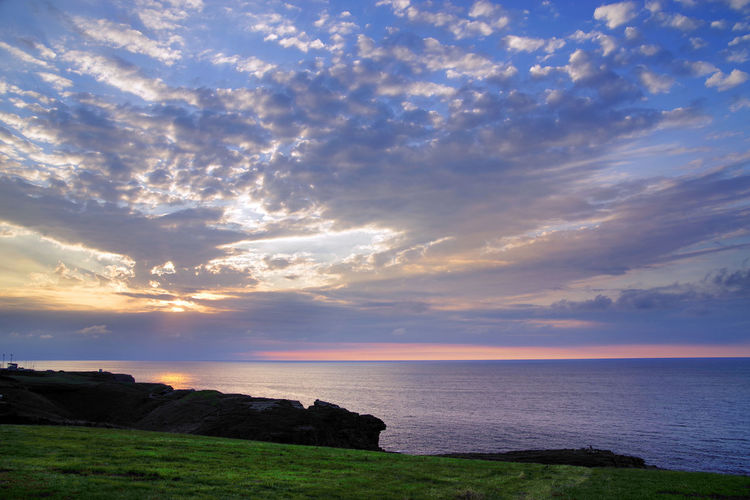 Sunset lights over the Cantabrian Sea Sky Cloud - Sky Sea Scenics - Nature Beauty In Nature Water Horizon Over Water Tranquil Scene Horizon Tranquility Sunset Land Non-urban Scene Nature Beach Idyllic No People Outdoors Cantabrian Sea Cantabrian Coast Atlantic Atlantic Ocean Sunset_collection Sunsets Travel Travel Photography