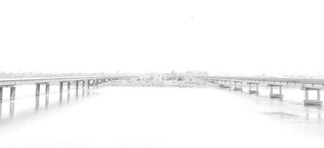 Twin Bridges over river Jhelum,Pakistan. Amazing Pakistan Bridge - Man Made Structure Clear Sky Day Diminishing Perspective Nature Outdoors River Jhelum The Way Forward Twin Bridges Vanishing Point Whiteout
