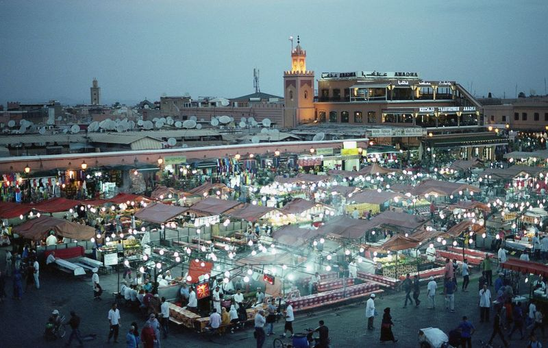 Crowd Market People Working Outdoors Night Time Night Busy Street Photography Street From Above  Architecture Lifestyles Life Morocco Africa City Life 35mm 35mm Film Film Photography Filmisnotdead Grain Lights Dark Street Lights Neighborhood Map Connected By Travel