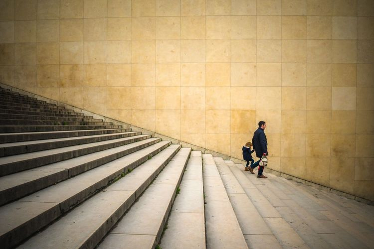 Paris Stairs Two People Man Child Perspective Urban Geometry Urbanphotography Architecture Trocadero Streetphotography Light And Shadow Outdoors City Life Parisian Life From My Point Of View EyeEm Best Edits EyeEmBestPics EyeEm Selects EyeEm Gallery
