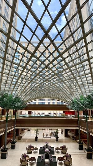 Architecture Built Structure Day Building Exterior Tree Plant Ceiling No People Pattern Glass - Material Sky Decoration