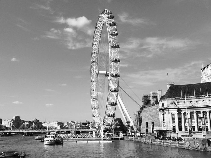 Big Wheel Harbor No People Outdoors london eye, London Architecture