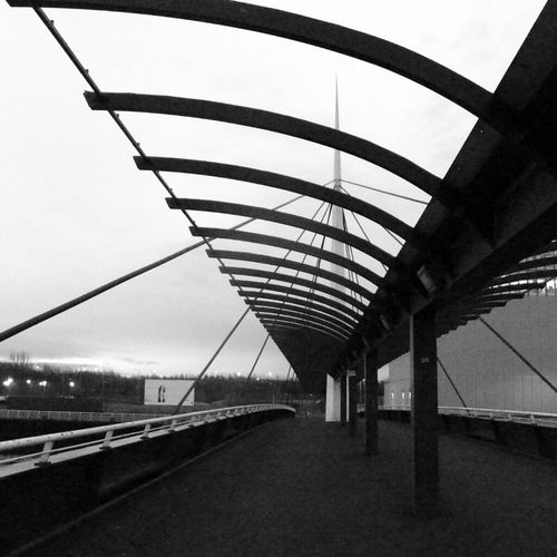 Blackandwhite Bridge Clyde