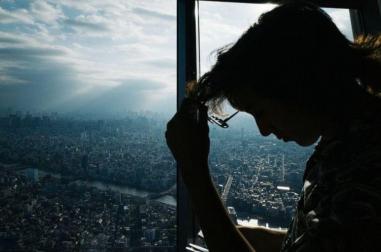 Tokyo City Window Looking Through Window Winter Close-up Sky #urbanana: The Urban Playground Be Brave
