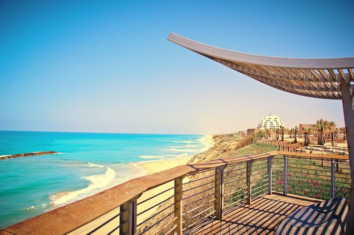 Israel Blue Sea Clear Sky Beach Water Coast Ashkelon Travel Destinations Horizon Over Water Tourism Travel Day Sky Desert Sands Scenics Beauty In Nature Nature Waves