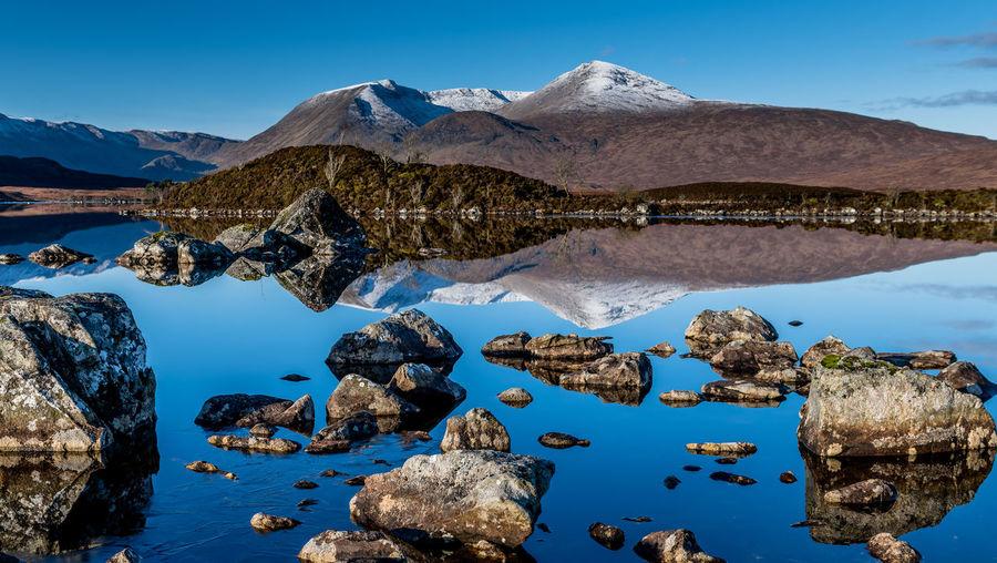 Scottish highland landscape reflection