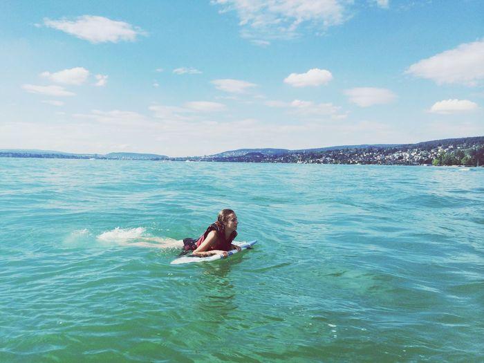 Surfing Summer Lake Of Zurich Weekend
