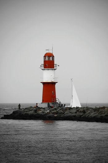 Travel Lighthouse Travel Destinations Building Exterior Tower Fog Water No People Outdoors Nature Day Nautical Vessel Architecture Sky Stone Water Reflections Red Lighthouse Leuchtturm Ostsee Baltic Sea Holiday Dreaming Enjoying Life Träumen Genießen