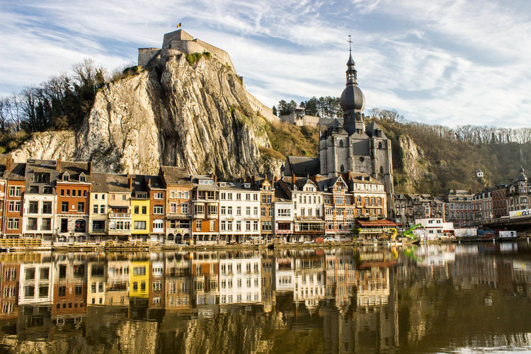 Scenic View Of Dinant Waterfront