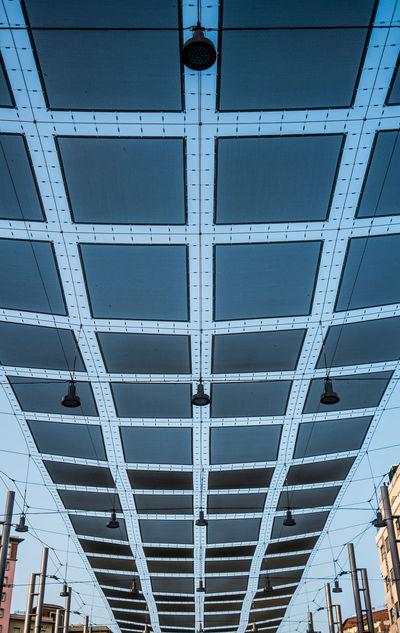 Architectural Feature Architecture Blue Built Structure City Geometric Shape Low Angle View Repetition