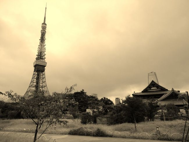 Tower Travel Destinations Travel History Silhouette Tourism Architecture Monument Landscape Outdoors Ancient No People Tranquility Tree City Pyramid Sky Day Nature Tokyo,Japan Kontrast New Age Old School Mori Tower Tokyotower