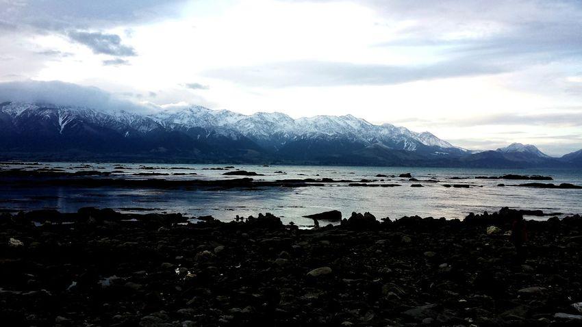 Snowcapped Mountains Kaikoura Silouette & Sky Snowcapped Mountain Rocky Mountains Mountain Peak Mountain Ridge