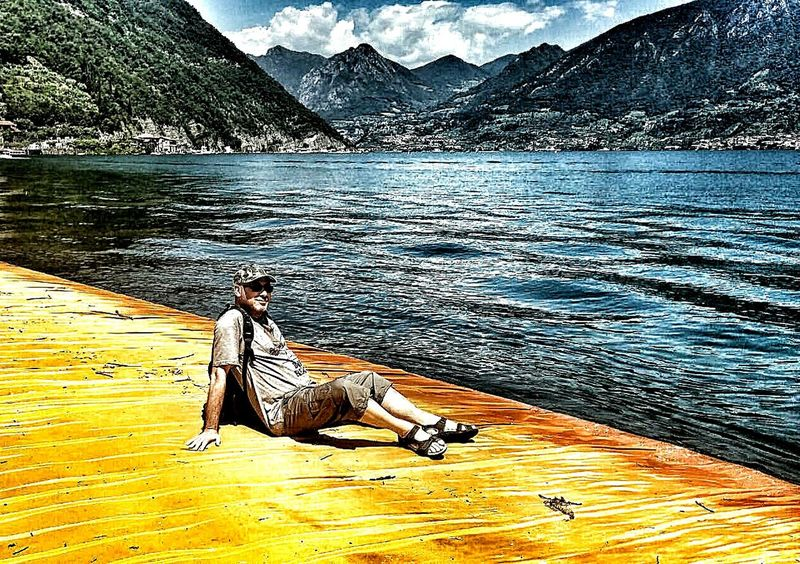 Art Installation The Floating Piers Christo Sulzano Hdr_Collection