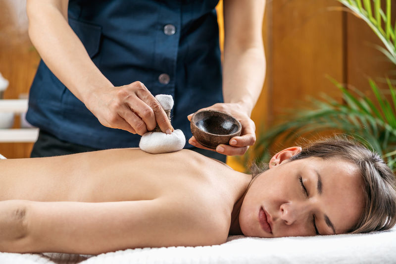 Kizhi ayurveda massage with herbal pads