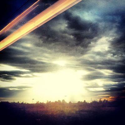 In Viaggio verso l'Amore ... Sunset Sunshine Train Italo Treno Tramonto Love
