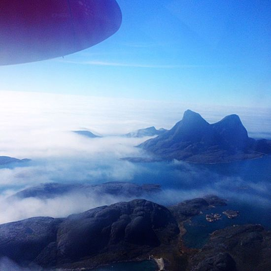 IPhone IPhoneography Travel Travel Photography Island Misty Mountains  Mist Misty Plane Window Plane AirPlane ✈ Plane View Hot Day Ocean Sky And Clouds Iphoneonly Iphone 5