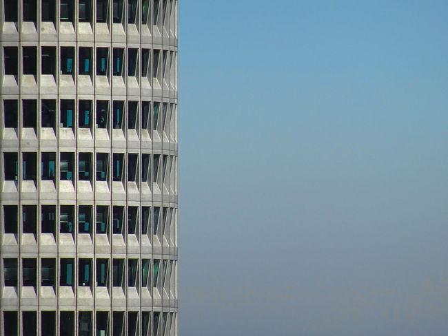 Munich Repetion Wall Blue Bmw Building Exterior Landmark Rythmic Skyscraper Window