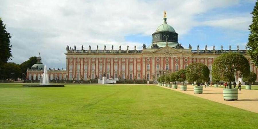 City Architecture Sky Building Exterior History Outdoors Day Grass No People Sansoucci Palace Park Sanssouci Potsdam