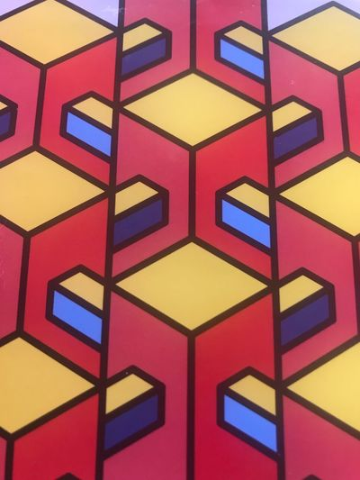 Colors and shadows Multi Colored Pattern Full Frame Backgrounds Geometric Shape Design No People Shape Close-up Indoors  Yellow Repetition Hexagon Stained Glass Architecture Textured  Wall - Building Feature Art And Craft Red Built Structure