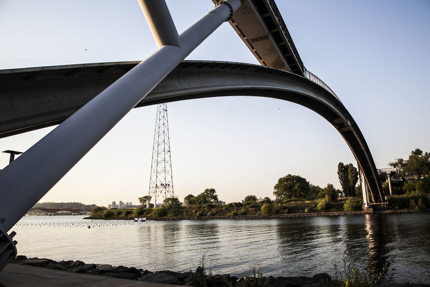 Architecture Bridge Bridge - Man Made Structure Built Structure Clear Sky Connection Dangsan Hangang Park Development Engineering Han River International Landmark Korea Learn & Shoot: Leading Lines Outdoors Reflection River Seonyugyo Seoul Sky Structure Water Waterfront