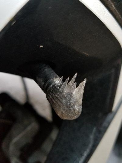 ice on my tire Tire Got Ice On It Last Night Ice Tire Close-up