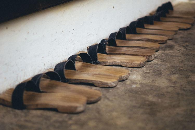 Bakiak a traditional slipers in weat sumatera