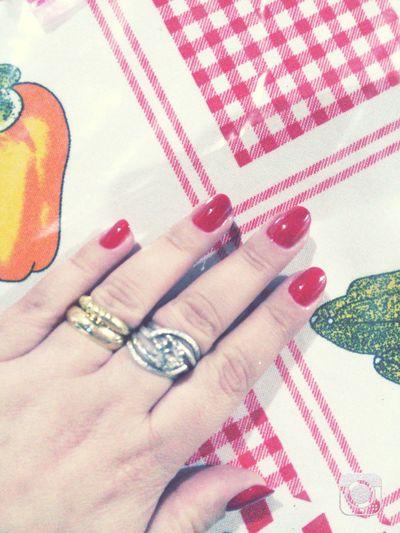 Red Nails ❤ Coloramadasemana Vermelho Ivete Cor Do Amor