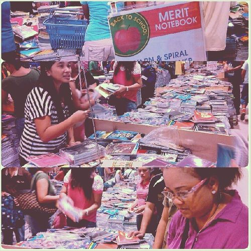 Back to School na so buy 1notebook and 1ballpen only hahaha Damingtao GaisanoMall Schoolsupply June2
