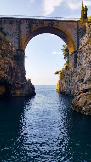 Water Sea Bridge - Man Made Structure Arch Blue Sky Architecture Horizon Over Water Landscape Cloud - Sky