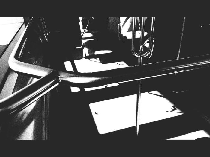 Empty Bus Ligne 4 Black And White Only The One