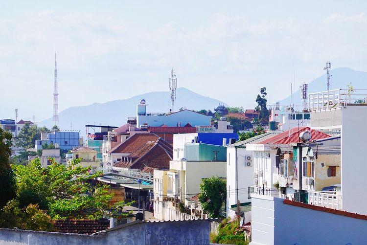 Nha Strang Vietnam City Cityscape Water Urban Skyline Sky Architecture Building Exterior