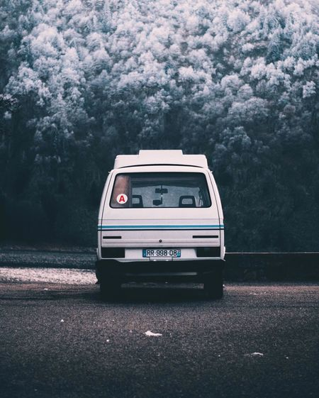 Traveling Home For The Holidays Car No People Outdoors Day Landscape Winter France Van Adventure Mountain Forest Frosty