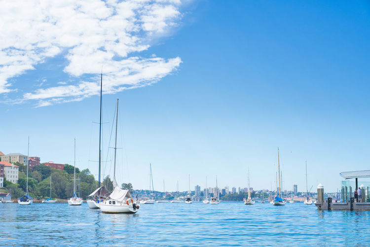 Beauty In Nature Cloud - Sky Day Marina Mast Mode Of Transportation Moored Nature Nautical Vessel No People Outdoors Pole Sailboat Sea Sky Transportation Travel Water Waterfront Yacht