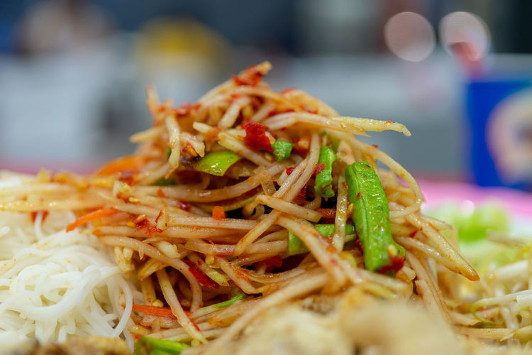 papaya salad Papaya Salad Food Somtum Thai Somtum Somtam  Close-up