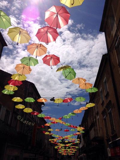 Umbrellas Umbrellastreet Fumel Summer Colours Lookingup Lot Et Garonne