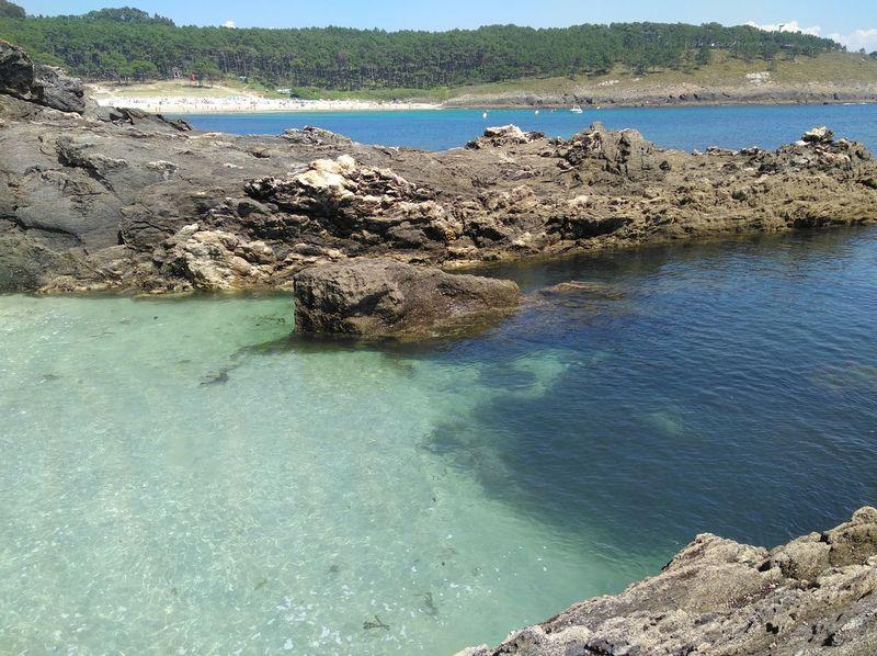 Playa de Melide Water Sea Blue Sky