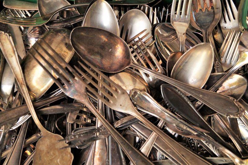 Full frame shot of kitchen utensils