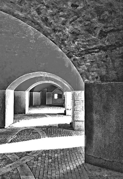 Through the fort... New England  New London Connecticut Tunnel Fort Revolutionary War Historical Building Blackandwhite Black And White Black & White Blackandwhite Photography