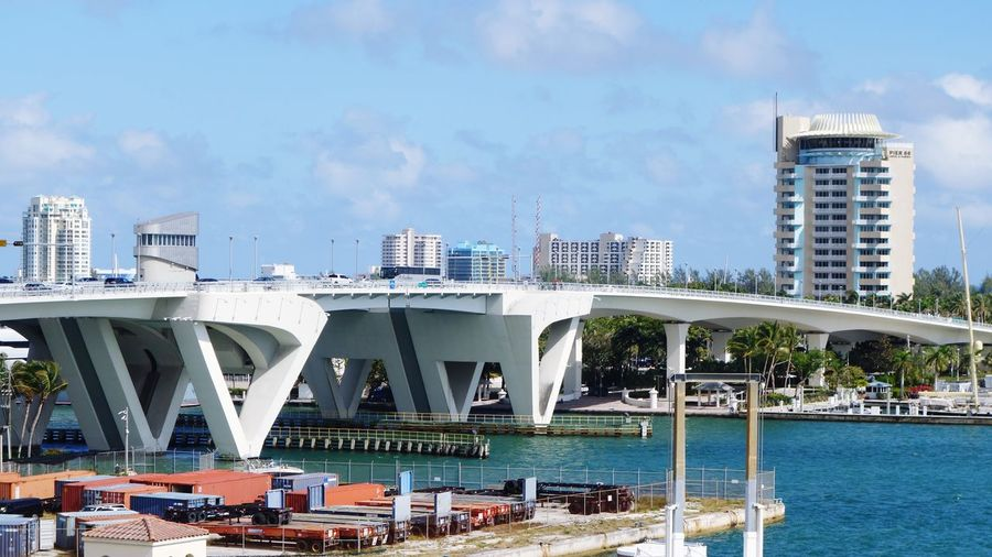 17th Street Causeway Architecture Built Structure Building Exterior City Skyscraper Modern Sky Day Cityscape Outdoors Water Bridge - Man Made Structure No People Travel Destinations Nature Sea