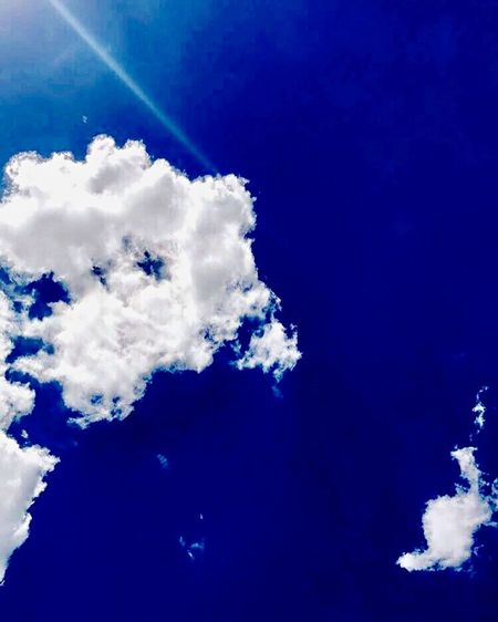 Blue Skies. Cloud - Sky Blue Beauty In Nature Low Angle View Outdoors Day Sky No People Nature Sunny First Eyeem Photo EyeEmNewHere