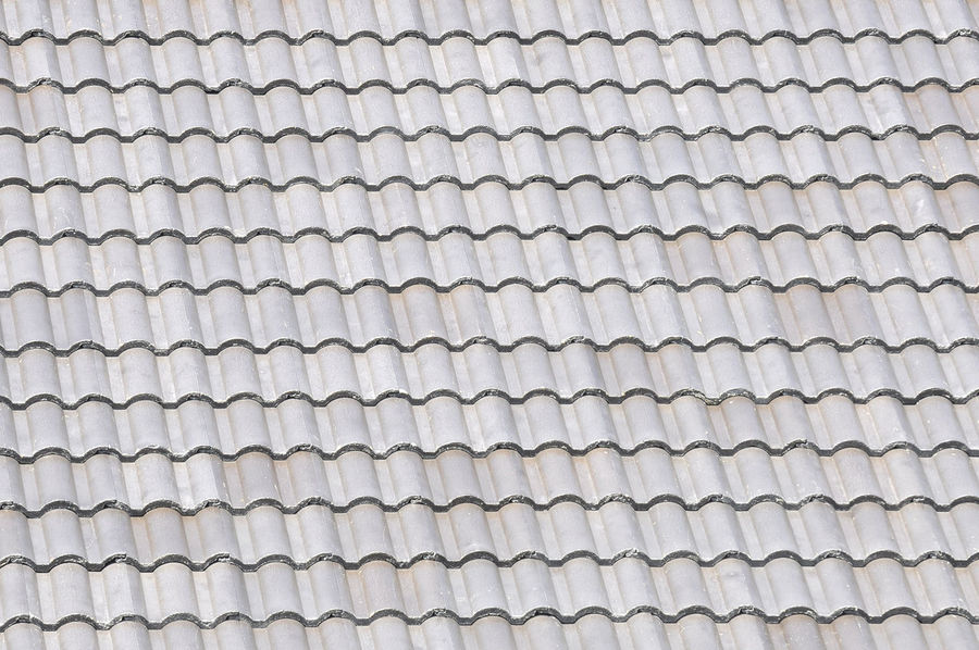 grey roof tile pattern made from cement Architecture Building Ceramic Construction Fullframe Grey Home House Mosaic Protection Rain Roof Rooftile Rooftop Sunlight Symetry Tiles Weathered