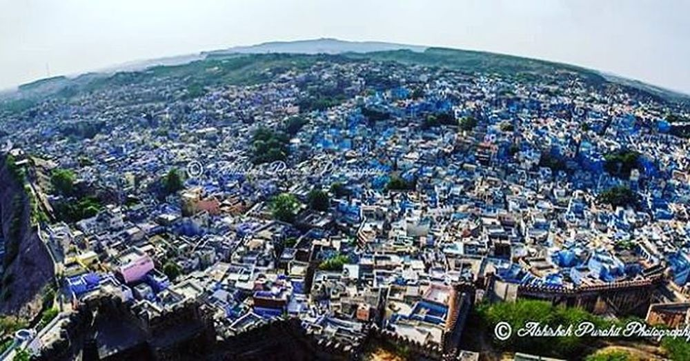 Our bluecity cityscape Photographie  Rajasthan Like4like Bluecity Brampuri Photographie  Jodhpur Jodhpurs India Indian Jodhpurriff Rajasthani Cityscape Arial Travel Concept Wideangle