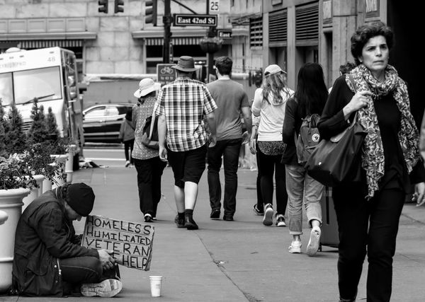 panhandling on city street Begging Homeless Panhandling Poverty Social Issues
